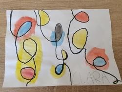 Les couleurs primaires et Calder par nos artistes en herbe de Grande-Section !