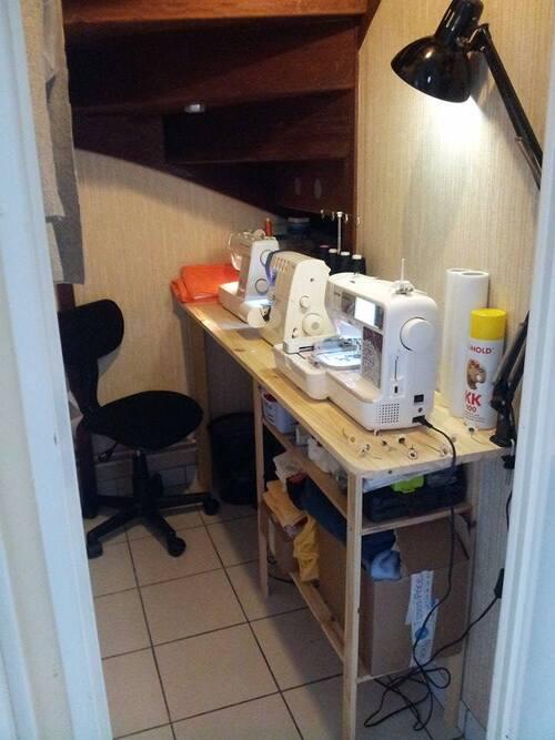 Enfin !!! mon atelier ...