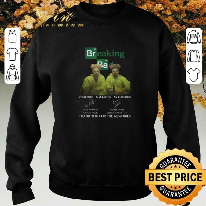 Pretty El Camino Breaking Bad 2008-2013 thank you for the memories shirt