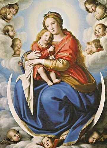 Vierge à l'Enfant huile sur toile de Sassoferrato (Pinacot