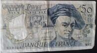 billets de 50 frs quentin de la tour 1987