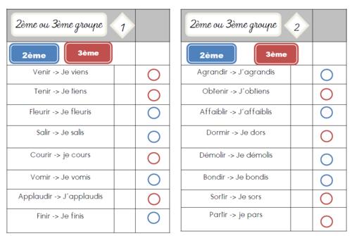 Cartes multi choix : 2ème ou 3ème groupe?