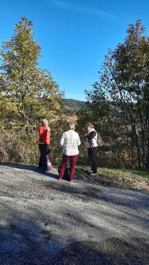 marche nordique sante  st marcel les annonay 25 octobre 2019