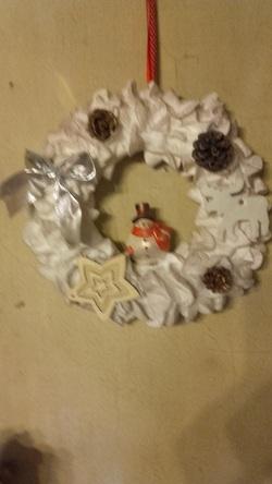 ma couronne de   Noel et ma deco