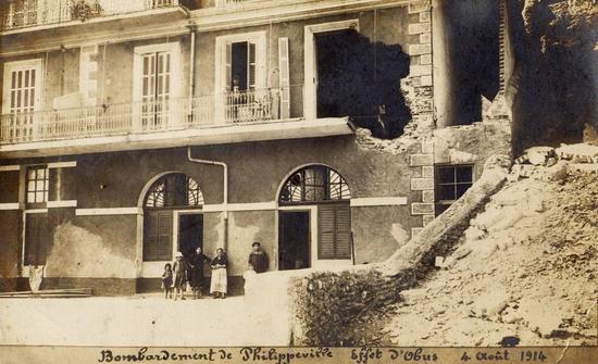 1914 - bombardement de philippeville