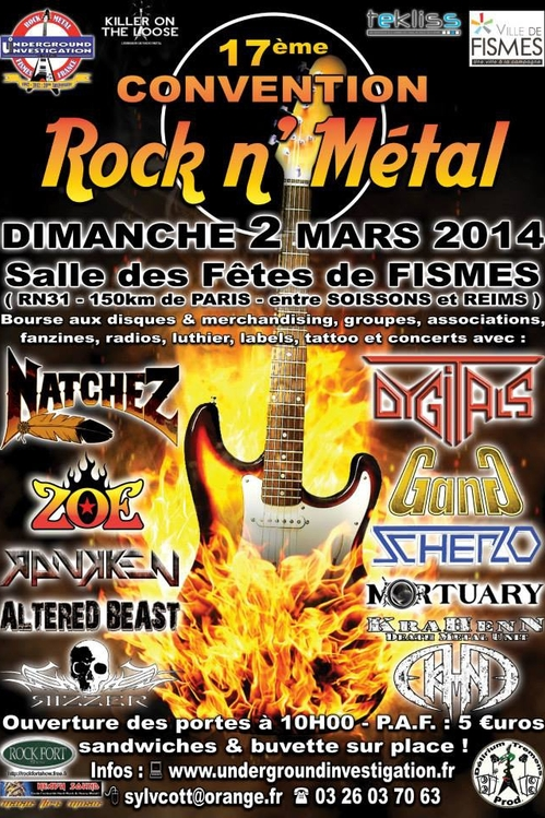 CONVENTION ROCK N METAL FISMES 2014