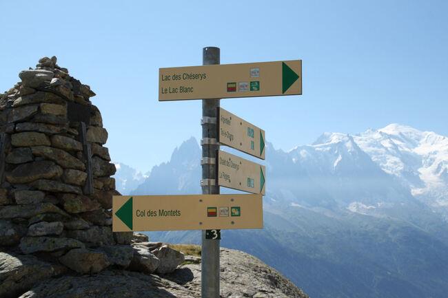 Au bord du chemin... sur le balcon du Mont-Blanc