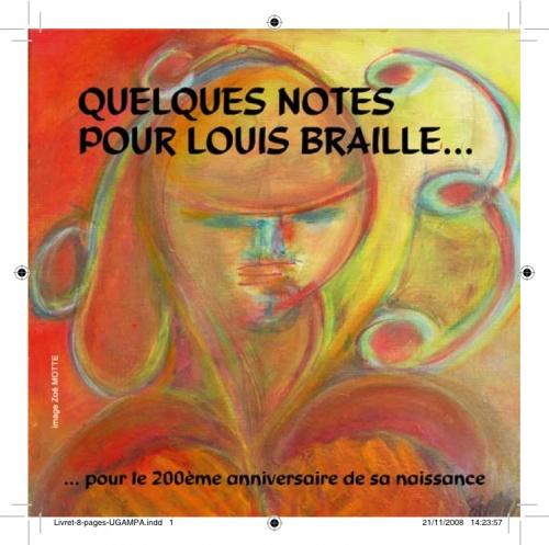 Couverture coffret Louis Braille - création picturale Zoé Motte
