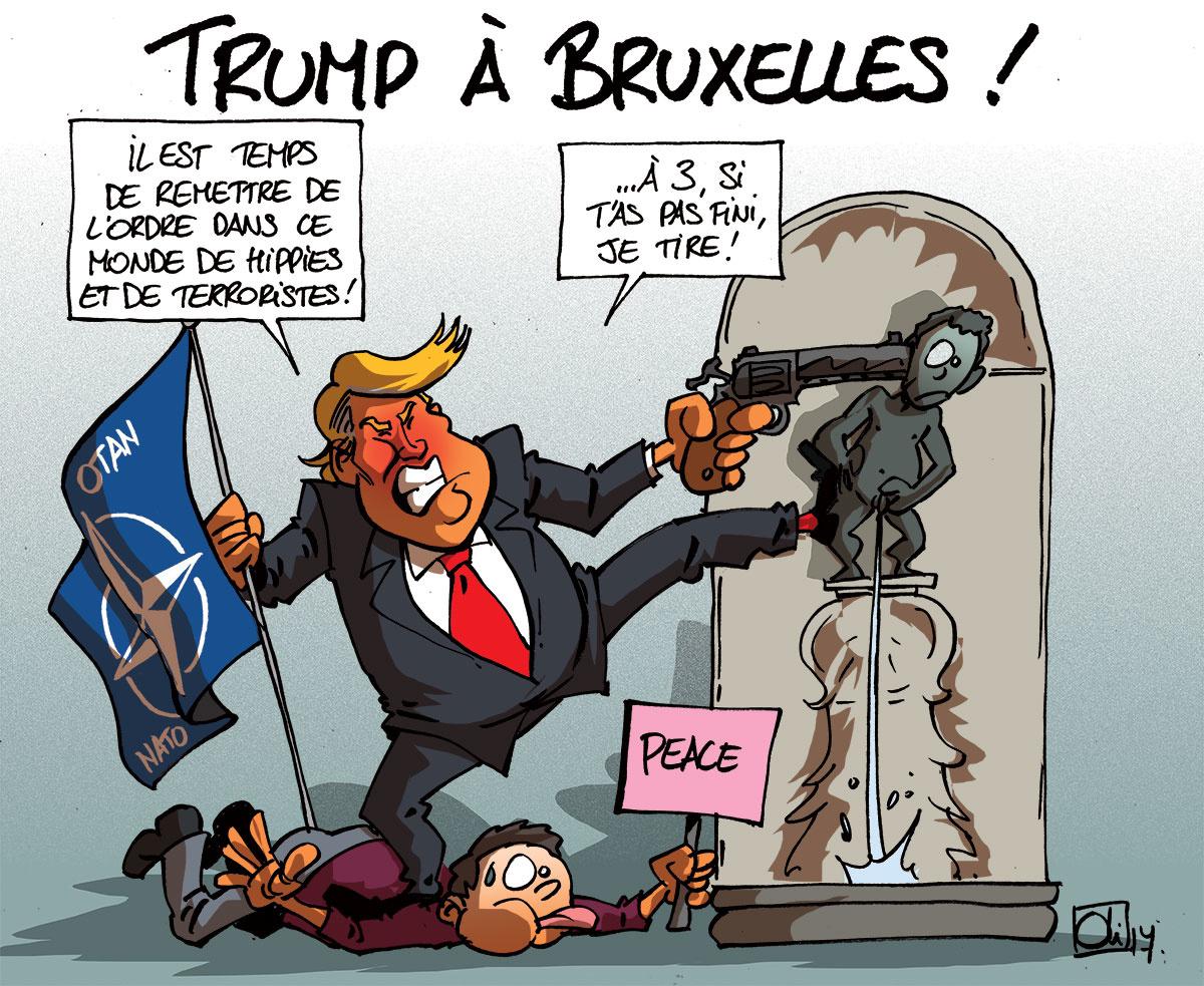 """L'UE du capital main dans la main avec l'OTAN de la """"libre Amérique"""". Et dans cet alignement militaire, la France est en première ligne"""