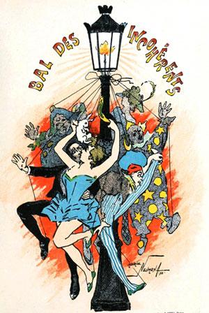 Maurice Neumont, Affiche pour le Bal des Incohérents, 1897, Librairie Nilsson Per Laam