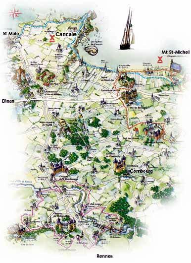 CANCALE  : merveille de Bretagne ( Côte d'émeraude)
