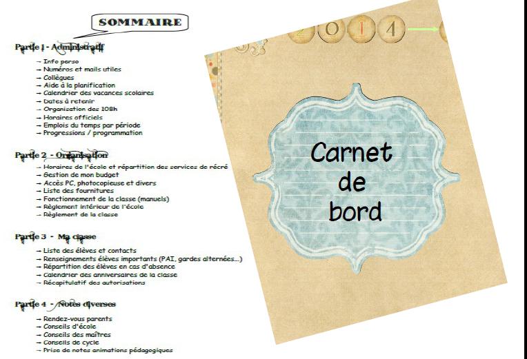 Carnet de bord et cahier journal la classe de marinantes - Carnet de travail d un jardinier paysagiste ...