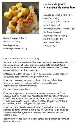Idées de menus - Jeudi 23 mai 2013
