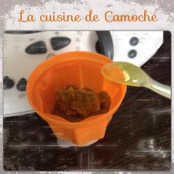Purée petits pois carottes
