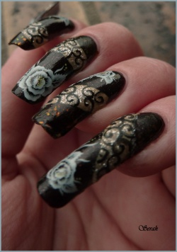 Nail Art Ancient Flowers!