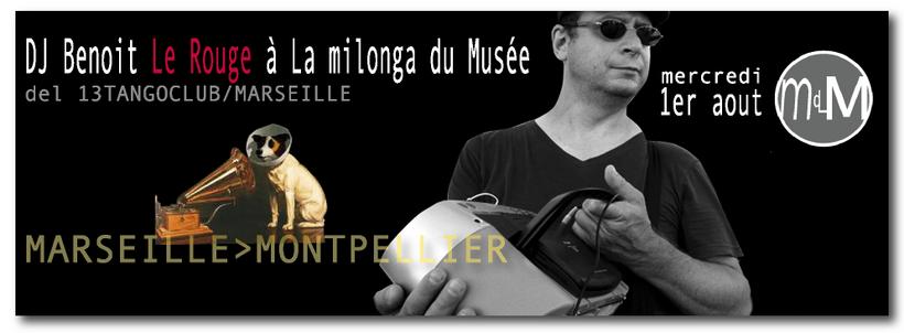 1er août DJ Benoit Le Rouge, le retour del 13 TANGOCLUB à la MdM/Mtp