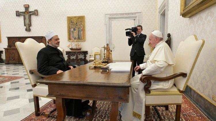 Audience privée entre le Saint-Père et le Grand Imam Ahmed Al-Tayeb, le 15 novembre 2019