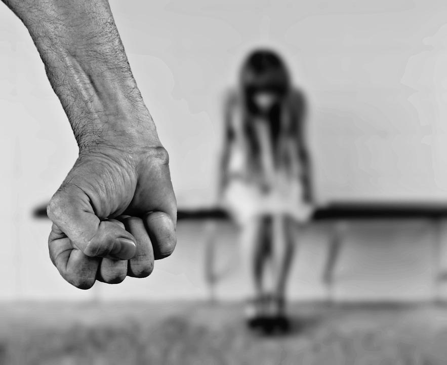 La Peur, Femme, Arrêt, Violence Contre Les Femmes, Abus