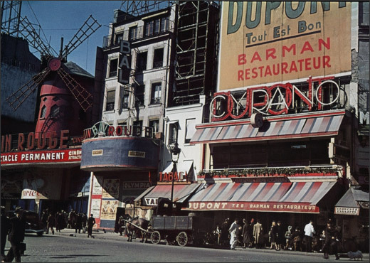 Moulin rouge et brasserie Dupont-Cyrano, place Blanche.