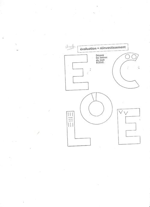 Eval graphisme GS début d'année