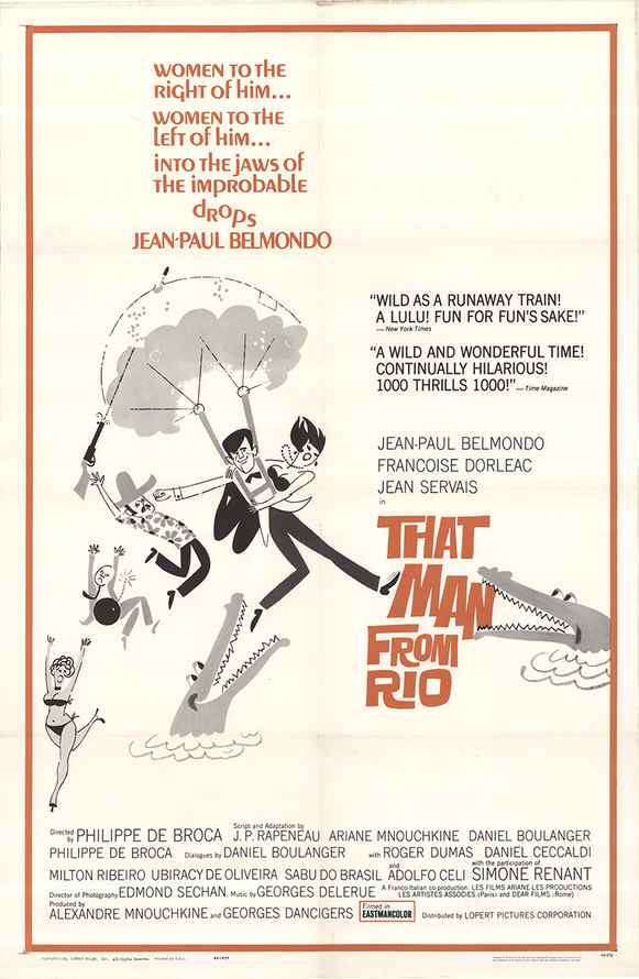 THAT MAN FROM RIO BOX OFFICE USA 1964