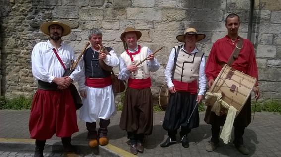 Curragh en costume 19ème aux fêtes historiques de Vannes 2016