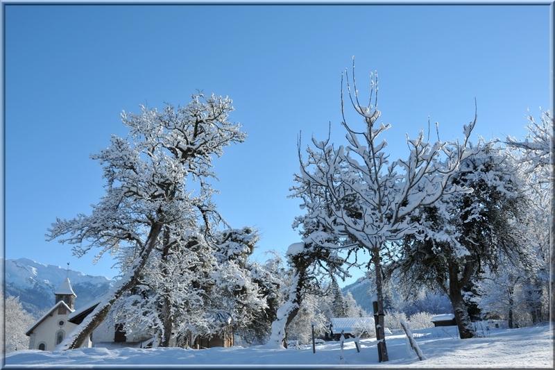 Mon village cet hiver