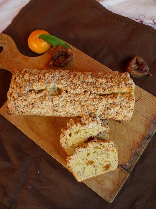 Cake sablonneux figue noisette mandarine