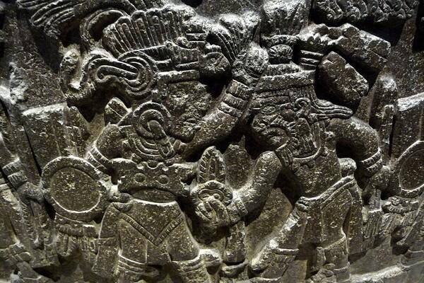 Mexico Musée Détail Monument de Tizoc