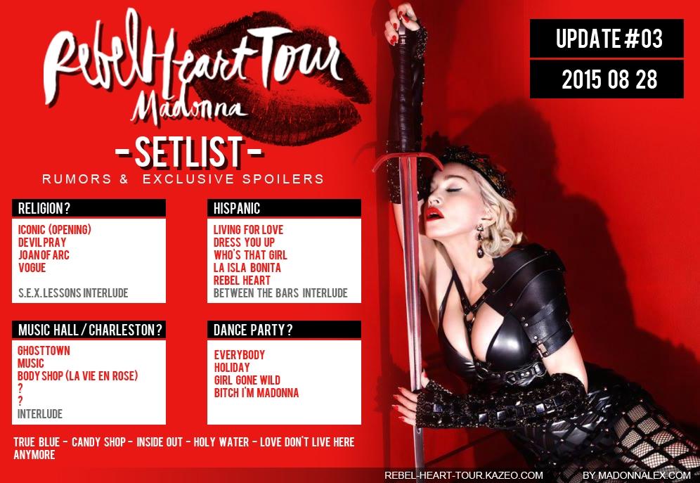 Madonna Rebel Heart Tour Setlist U3