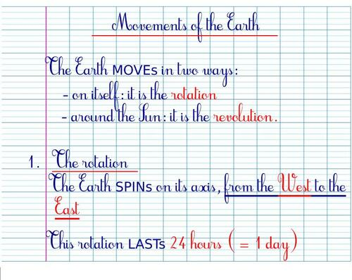 CM2SC - The Earth Movements: r o t a t i o n