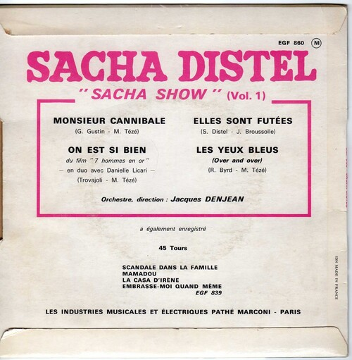 Sacha Distel - Monsieur Cannibale 02