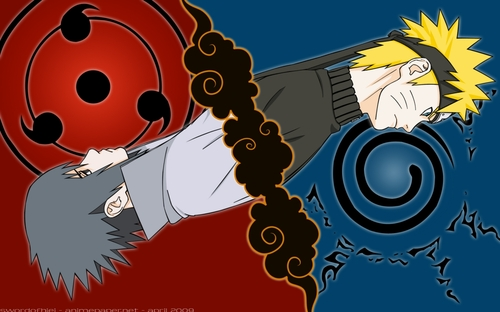 Naruto et Sauke amis et rivaux