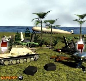 Find the objects in war field