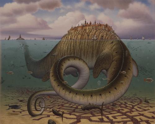 Jacek Yerka's Fantasy Worlds