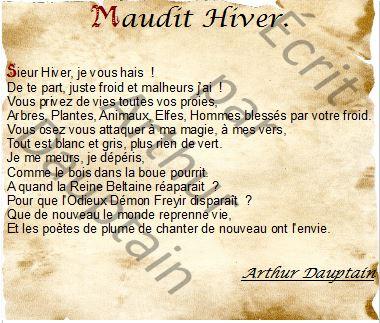 Maudit HIver !