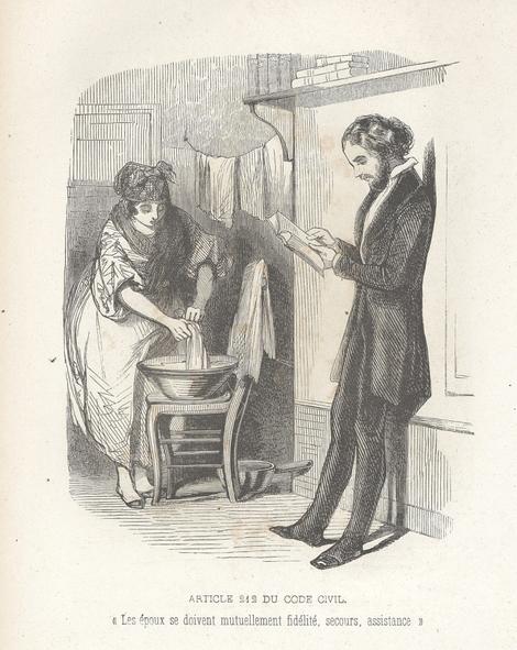 La femme doit obéissance à son mari (Code civil, art. 213)