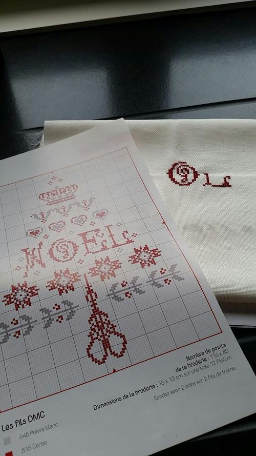 1ère étape de notre SAL de Noël