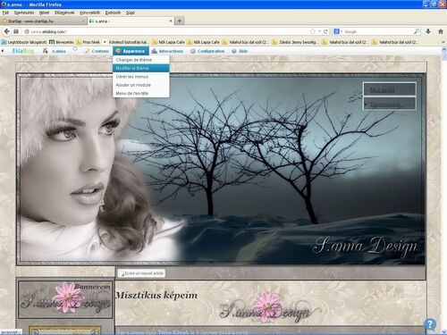 EklaBlog Oldal design szerkesztése!