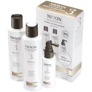 Soins épaississants NIOXIN SYSTEM KIT 3 - Cheveux fins colorés (3 produits)