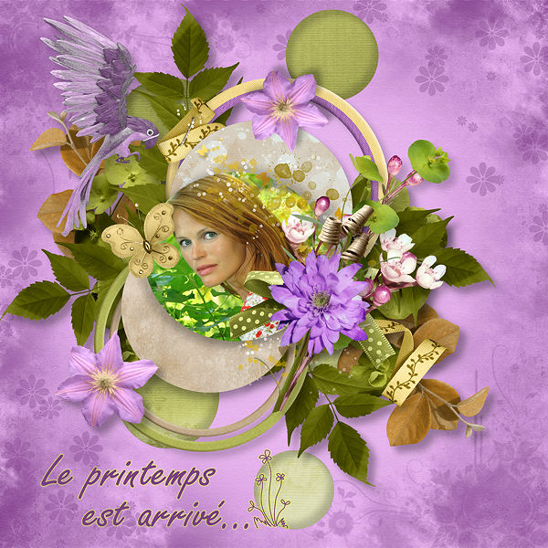 """""""Colors of Spring"""" de Scrap de Yas et Xuxper Designs"""
