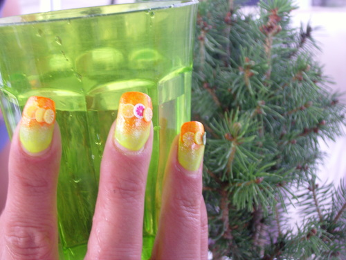 Nail art : Fruitos - Dégradé