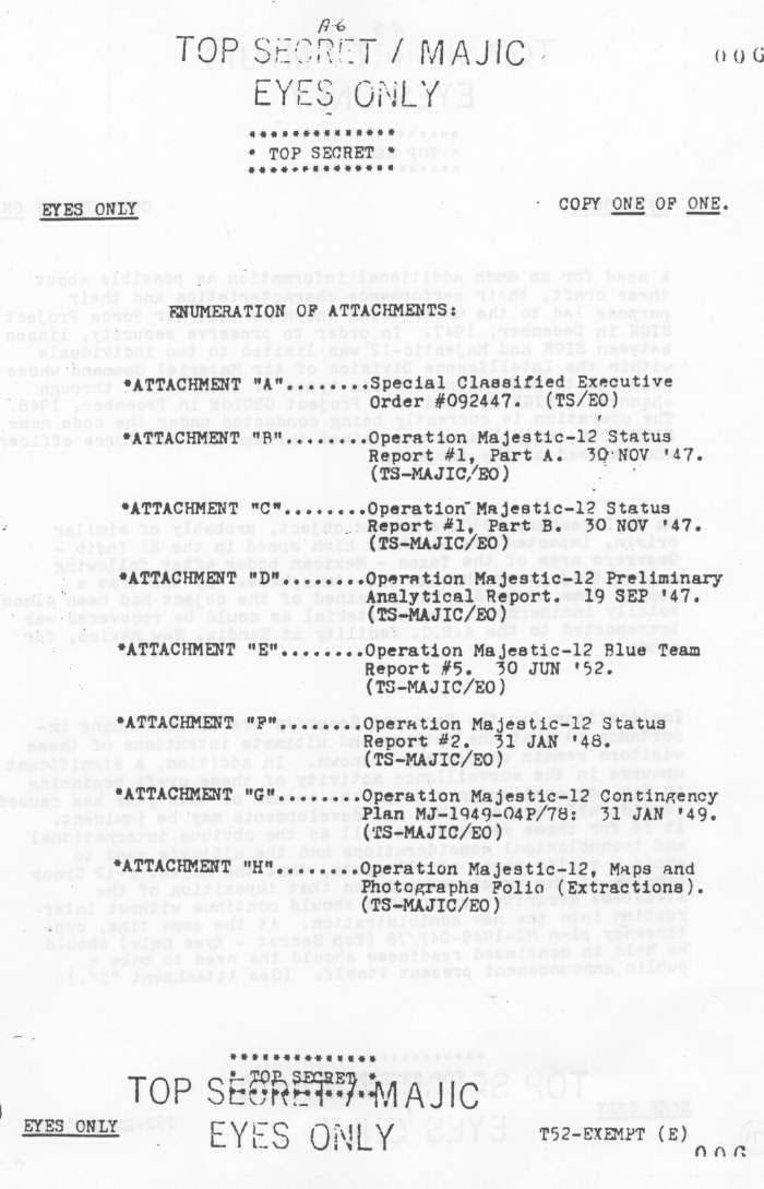 Page 6 - MJ12 - Un comité d'étude des phénomènes OVNIS - Ufologie