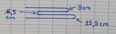 Coudre une pochette pour aiguilles circulaires (2) : coudre l'intérieur 1