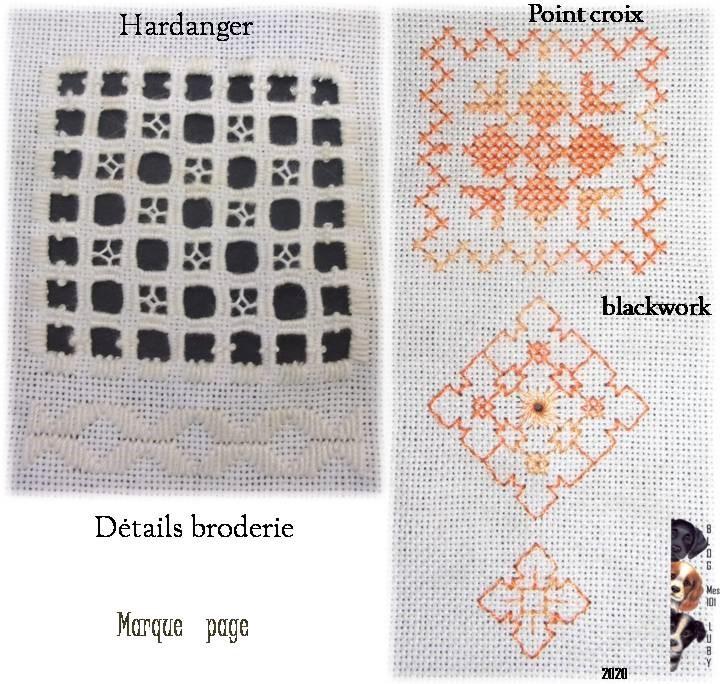 MP Blackwork - point croix - hardanger