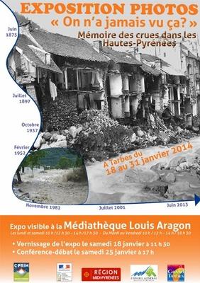 Tarbes : Mémoires des crues des Hautes-Pyrénées   EXPOSITION PHOTO