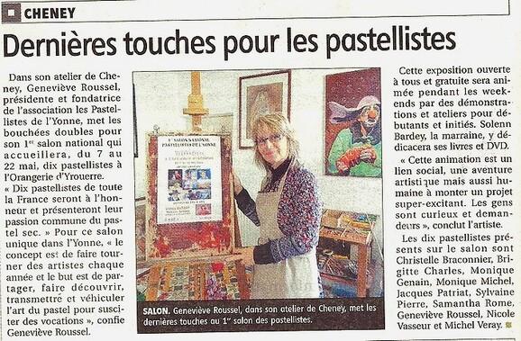 """1er Salon des """"Pastellistes de l'Yonne"""" -1-"""