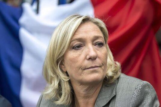 La présidente du Front national Marine le Pen à Henin-Beaumont le 14 septembre 2014.