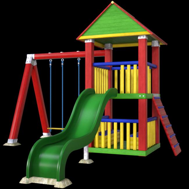 Tube jeu extérieurs pour enfant (render-image)
