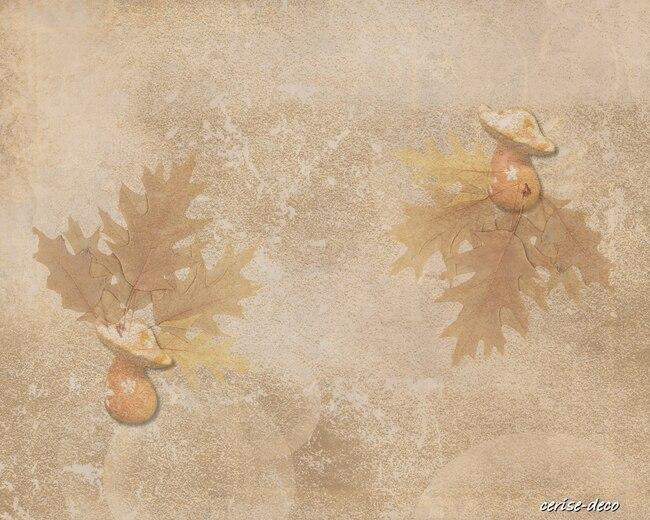 champignon automnale : design